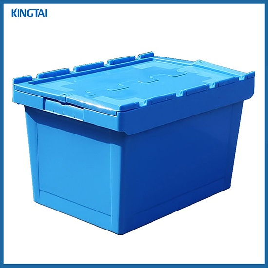 Attached lid container